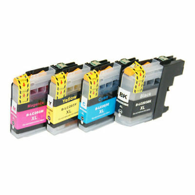 4PK INK CARTRIDGE for BROTHER LC-203XL LC203 LC-201 MFC-J4620DW MFC-J5520DW
