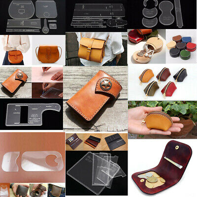 Leather Craft Clear DIY Acrylic Wallet Bag Mould Pattern Stencil Template Set