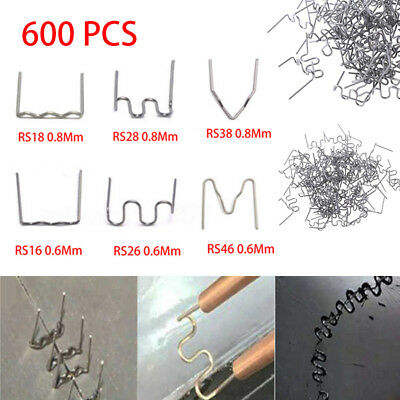 600pc Hot Stapler Staples For Plastic Welder Car Bumper Repair Nail 0.6/0.8mm