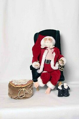 """JACQUELINE KENT COLLECTION - CHRISTMAS - """"DEAR SANTA"""" with  With Sack Of Letters"""