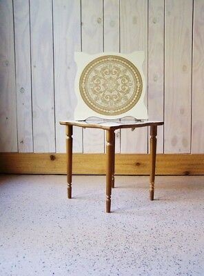 1950s Mid Century Modern Side Table-Vintage Side table-Medallion Design Original