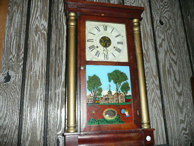 Seth Thomas Reverse Painting Mantel Clock