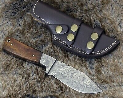 "Handmade Damascus Steel 9.0"" Hunting knife walnut wood damscus handle full tang"
