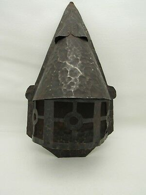 Antique Arts Crafts Mission Style Primitive Hand Hammered Wall Sconce Light