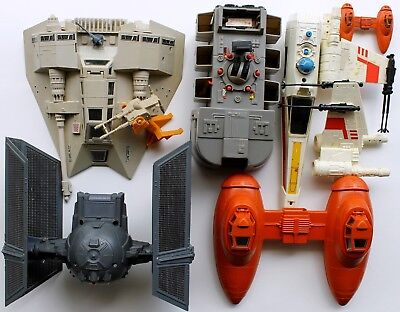 Vintage Kenner '79 Star Wars Transport Lot, X-Wing, Tie Fighter For Parts Repair