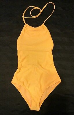 ASOS New Halter One Piece Swimsuit Size 0 Blazing Orange FREE CANADA SHIPPING