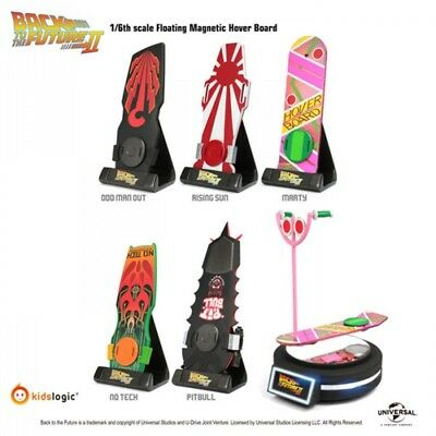 Back To The Future Skate Board Magnetic Floating 1/6th Set - 5 Pack