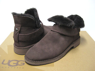 0a3168506ec UGG MCKAY CHOCOLATE Suede Shearling Ankle Boots Us 7 / Eu 38 / Uk 5 ...