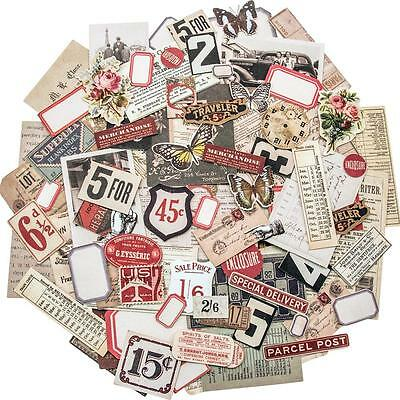 Tim Holtz Ephemera Pack Snippets - Miniature Paper Collage Mixed Media Cards