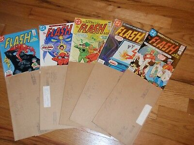 The Flash DC Comics #303,304,305 and 329,330 1982 and 1984