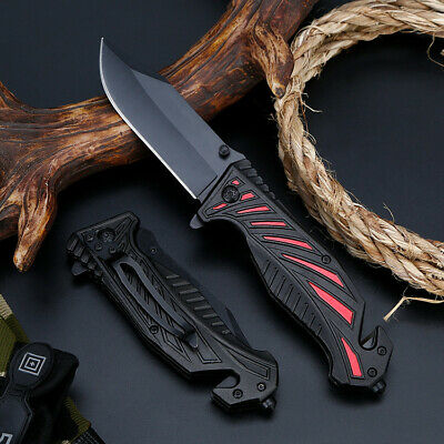 """8"""" Pocket Tactical Folding Military Knife Spring Assisted Blade Open EDC"""