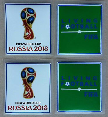 2 Pairs World Cup Jersey Player Sleeve Pvc Patches Iron On 2018 Russia Parches