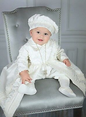 boys christening outfit brand new silk