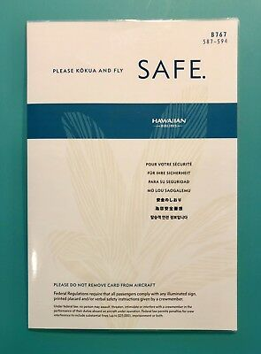 Hawaiian Airlines Safety Card --767 #587