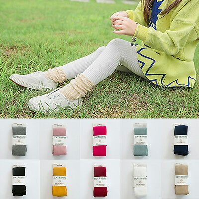New Baby Kids Girl Tights Soft Cotton Stockings Warm Pantyhose Pants Hosiery US