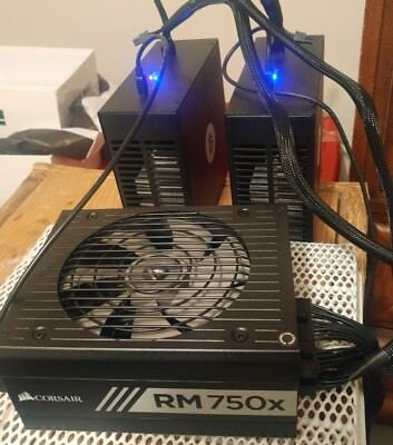 Rockminer New R-BOX Bitcoin ASIC Miners(2) - 100-110 GH/s, 135 W  With 750W PSU