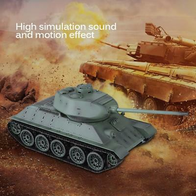Upgraded Heng Long 3909-1 1/16 2.4G Russia T-34 RC Tank Model Christmas Toy Gift