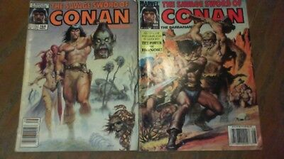 The Savage Sword of Conan Comic Lot 2 issues #188, #164