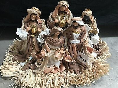 "Christmas In July /Holy Family figurine  20"" Nativity Set I Scene Christmas"