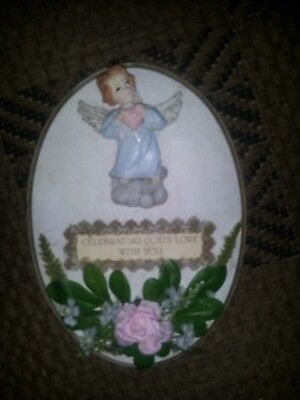 hand decorated wall plaque celebrating gods love with you
