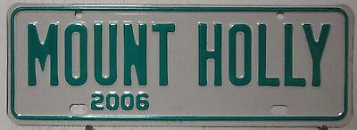 2006 North Carolina license plates tag city topper green white Mount Holly 12X4