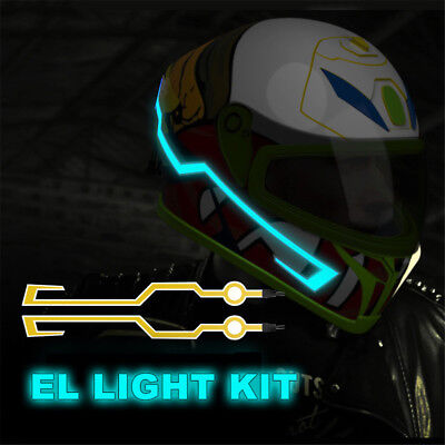 Motorcycle Helmet EL Cold Light Mod Kit Tron Night Signal Flashing Lights Stripe