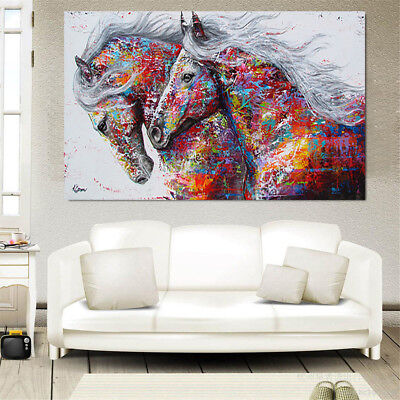 Colourful Horse Canvas Print Art Oil Painting Wall Unframed Picture Home Decor