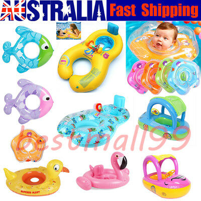 Inflatable Circle Newborn Neck Float Infant Baby Swimming Swim Ring Safety Lot!!