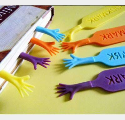 4pcs Book Marker Bookmark Hand Shape Cute Fancy Cartoon Tools For Reader