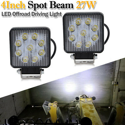 2X 27W Spot LED Cube Pods Work Light Offroad For Trucks Jeep Boat UTE ATV Square