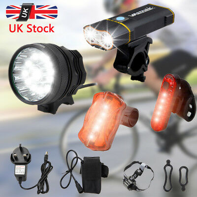 50000LM X3 /X2 /9x XML L2 LED Front Bicycle Light USB Rechargeable Bike Headlamp