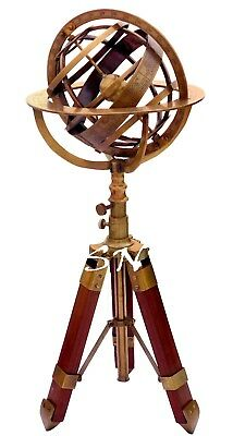 Vintage Brass Antique Armillary Sphere Astrolabe Armillary With Tripod Stand