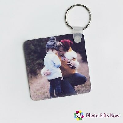 Personalised photo keyring / Double-sided / square / round / Gift/ your photo