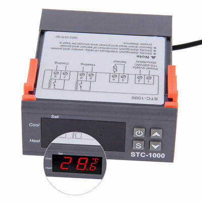 Temperature Thermostat STC-1000 Controller auto Heating & Cooling Aquarium Brew