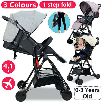Lightweight Baby Toddler Stroller Pram Jogger Compact Fold Travel Carry On Plane