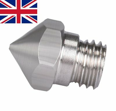 Mk10 stainless steel .4mm  M7 thread nozzle for Dremel, ​Wanhao, Flashforge etc