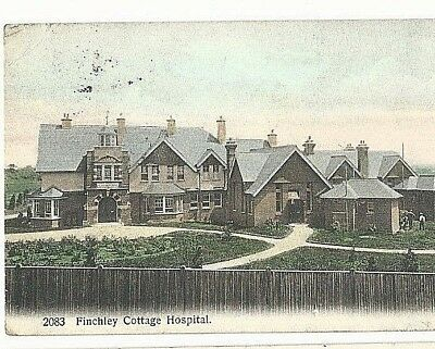Finchley Cottage Hospital. Social history on reverse of card