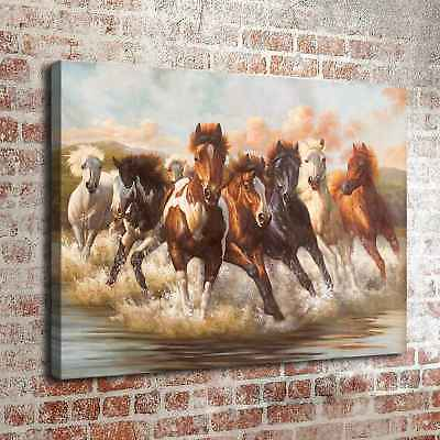 "Horses Running 24""x32"" HD Canvas prints Painting Home Decor Picture Wall art"