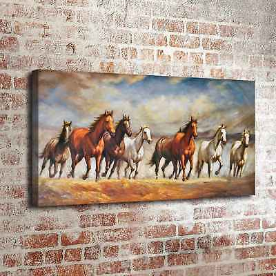 "24""x48"" Horses Running A Poster Home Decor HD Canvas Print Wall Painting Picture"