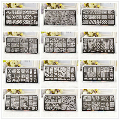 BORN PRETTY Nail Stamping Plates DIY Christmas Stamp Template Nail Art Manicure