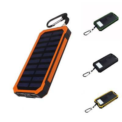 300000mAh Solar Powered 2-USB Battery Charger Tragbar Power Bank For Cell Phone
