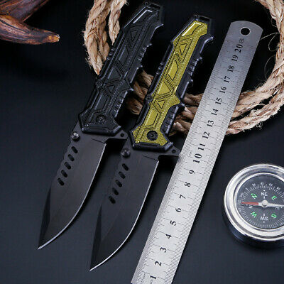 """8"""" Pocket Tactical Folding Military Hunting Knife Spring Assisted EDC"""