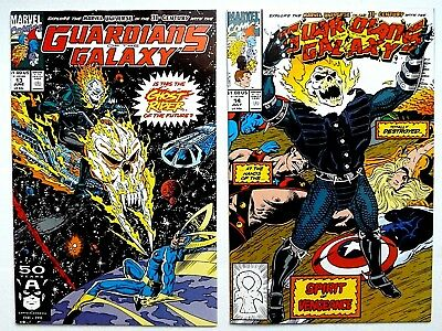 Marvel 1991 Guardians Of The Galaxy #13 14 ~1St Appearance Cosmic Ghost Rider~
