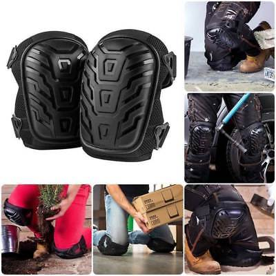 2*Heavy Duty Gel Filled Pro Knee Pads Protectors Safety Quick Release Work Trade