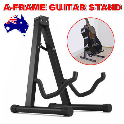 Portable Folding Electric Acoustic Bass  A Frame Guitar Stand Floor Rack Holder