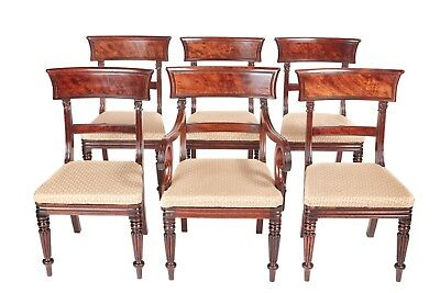 Quality Set Of 6 William IV Mahogany Dining Chairs
