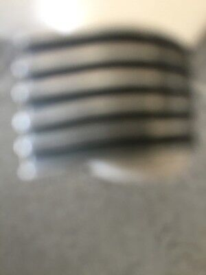 vintage silver stamped ring with black stripes