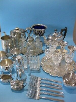 Very Nice Large Job Lot of Beautiful Antique & Vintage Silver Plated Items