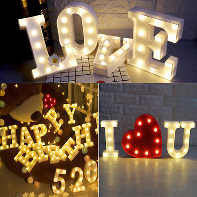 Alphabet LED Letters Light Up White Colorful Night Party Standing Hanging A-Z ✔