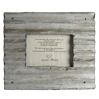 Dryads Dancing Reclaimed Corrugated Roof Tin Frame, 8x10, Antique Silver